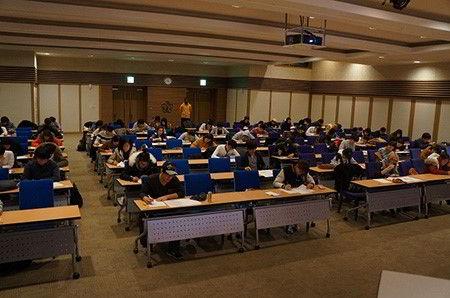 Một trong những kỳ thi viết của trường đại học quốc gia Kyungpook