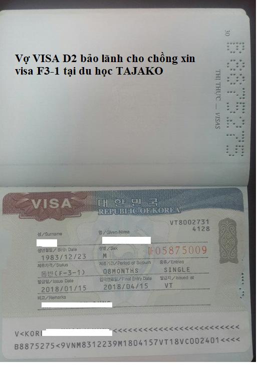 Visa D2 có được bảo lãnh người thân