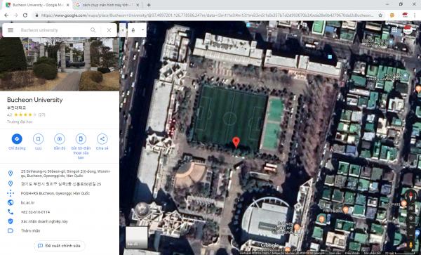 Hình ảnh bản đồ đến trường Đại học Bucheon