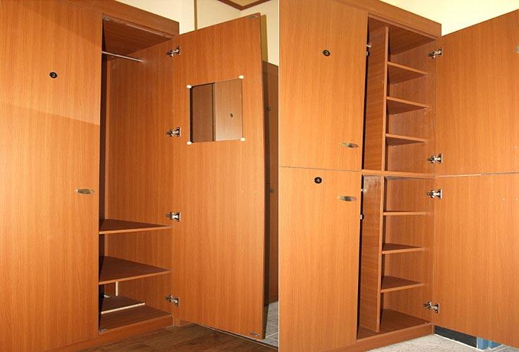 Tủ đựng đồ cá nhân trang bị bên trong phòng ở của ký túc xá
