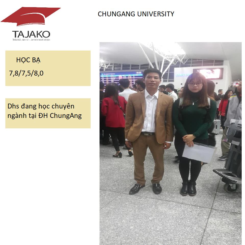 Tiễn dhs xuất cảnh - ChungAng University
