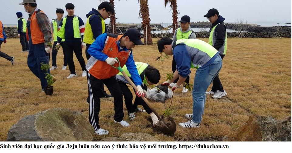 Hoạt động làm sạch môi trường của sinh viên Đại học quốc gia Jeju