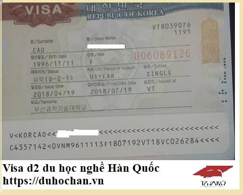 Visa du học nghề Hàn Quốc